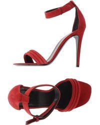 Celine Red Sandals - Lyst
