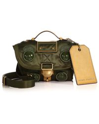 Marc Jacobs Military Silk Messenger Bag green - Lyst