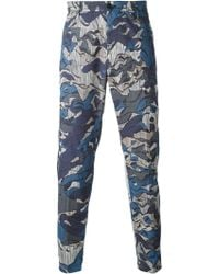 Kenzo Abstract Stripes Trousers - Lyst