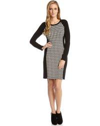 Karen Kane Arrowhead Jacquard Dress - Lyst
