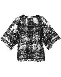 Elie Saab Black Lace Tunic - Lyst