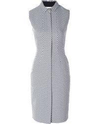 O'2nd Jacquard Zip Dress - Lyst