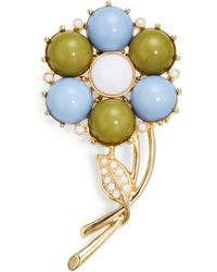 R.j. Graziano Cabochon Flower Pin - Lyst