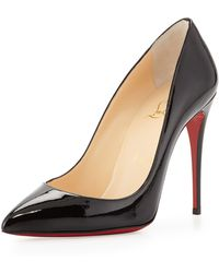 Christian Louboutin Pigalle Follies Point-Toe Red Sole Pump - Lyst
