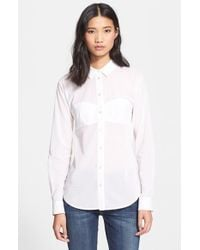 T By Alexander Wang Cotton Voile Shirt - Lyst