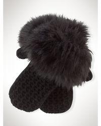 Ralph Lauren Cozy Waffle-Knit Gloves - Lyst