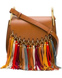 Chlo�� Hudson Leather Shoulder Bag in Red | Lyst