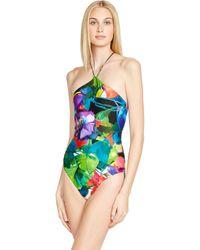 Ralph Lauren Floral Lace-Up-Back Monokini - Lyst