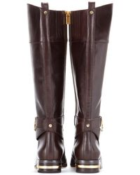 MICHAEL Michael Kors Aileen Leather Knee Boots - Lyst