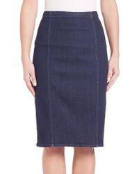 Polo ralph lauren Denim Pencil Skirt | Lyst