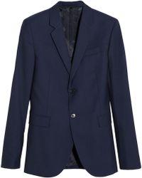 Marni Blue Wool-gabardine Blazer - Lyst