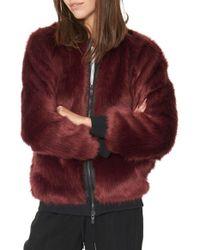 n:PHILANTHROPY - Anouk Faux-Fur Jacket - Lyst