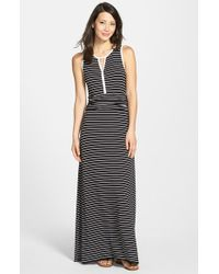 Vince Camuto Nautical-Striped Maxi Dress - Lyst