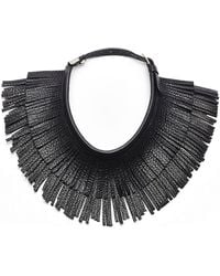 hayden-harnett Isis Leather Necklace - Lyst