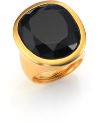 Kenneth Jay Lane Jewel Cocktail Ring gold - Lyst
