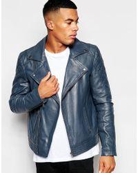 Asos Leather Biker Jacket - Lyst