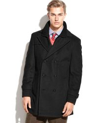 Lauren by Ralph Lauren Lauren by Ralph Lauren Labrada Double-breasted Wool-blend Peacoat - Lyst
