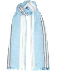 Harrods Striped Linen-Cotton Scarf - Lyst