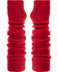 The Elder Statesman - Wool And Cashmere-blend Arm Warmers - Lyst