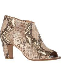 Maison Margiela Peep-Toe Side-Zip Ankle Boots - Lyst
