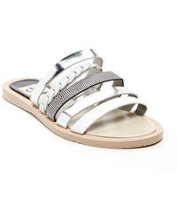 Dolce Vita Nalaa Leather Slide Sandals - Lyst
