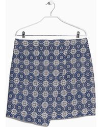 Mango Baroque Print Skirt - Lyst