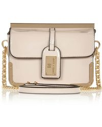 River Island Light Grey Patent Luggage Tag Cross Body Bag - Lyst