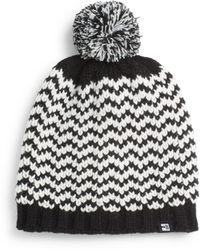 Block Headwear - Knit Herringbone Pom-pom Beanie - Lyst