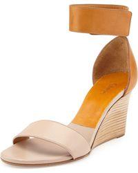Chloé Two-tone Wedge Sandal - Lyst