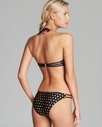 MINKPINK   Leopard Grid Cup Bikini Top   Lyst
