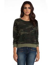 Textile Elizabeth and James - Perfect Sweatshirt in Olive - Lyst