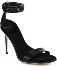 Cole Haan Cyro Leather Sandals black - Lyst