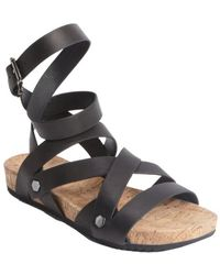 Rebecca Minkoff Black Strappy Leather Tristen Sandals - Lyst