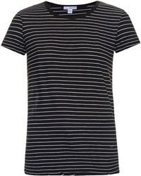 James Perse Stripped Round-neck T-shirt - Lyst
