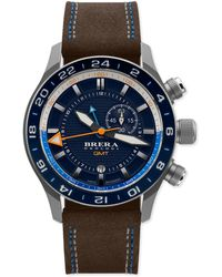 Brera Orologi | Eterno Orologi Gmt Watch With Suede Strap | Lyst