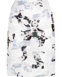 Jil Sander Organza Fil Coupé Pencil Skirt - Lyst