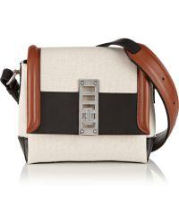 Proenza Schouler Elliot Mini Leather-Trimmed Canvas Shoulder Bag - Lyst