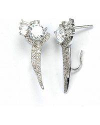 V Jewellery Brilliance Flitch Lobe Earrings - Lyst