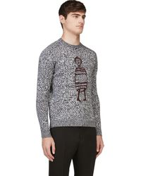 Carven Black and White Bonhomme Sweater - Lyst