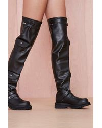 Nasty Gal Rebel Yell Leather Boot - Lyst