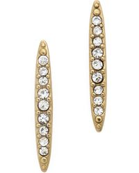 Michael Kors Matchstick Post Earrings Goldclear - Lyst
