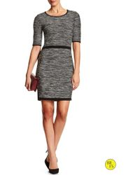 Banana Republic Factory Fitted Sweater Dress - Lyst