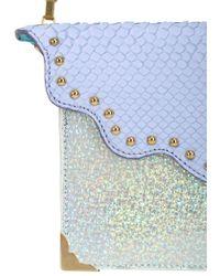 Imemoi - Python Embossed Leather Shoulder Bag - Lyst
