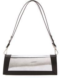 CoSTUME NATIONAL - Leather Shoulder Bag Silver - Lyst