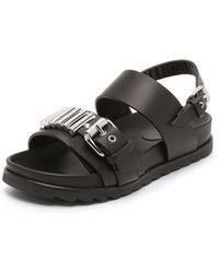 McQ by Alexander McQueen Rita Metal Bar Sandals - Black - Lyst