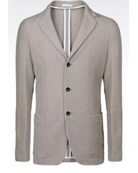Armani Slim Fit Jersey Jacket - Lyst
