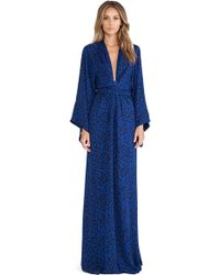 Issa Poppy Long Sleeve Wrap Maxi Dress - Lyst