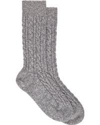 Corgi - Cableknit Socks - Lyst