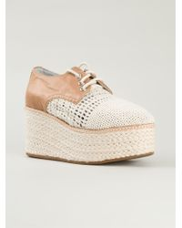 Jeffrey Campbell 'Curran' Wedge Lace-Up Shoes - Lyst