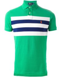 Polo Ralph Lauren Contrasting-Stripe Polo Shirt - Lyst
